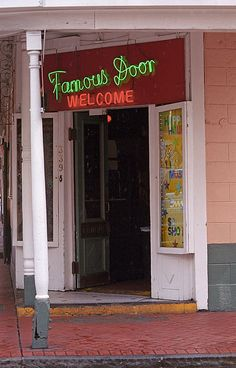 New Orleans - Bourbon Street. The Famous Door.