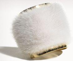 J. Mendel's Mink Fur Cuffs #Fur #Bracelets http://www.onceuponablackmoon.com/j-mendels-mink-fur-cuffs/