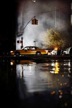 Yellow Cab: 70x105 cm ed 16 by Christophe Jacrot