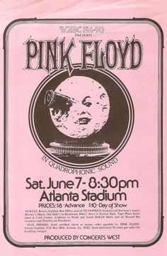 """more-relics: """" 1975 Pink Floyd flyer """" Rock And Roll, Pop Rock, Rock Vintage, Vintage Pink, Vintage Concert Posters, Vintage Posters, U2 Poster, The 1975 Poster, Arte Pink Floyd"""