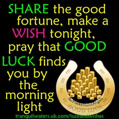 Lucky Horseshoe - Lucky ladybird - Fairy magic - Image quotes - Sayings - Good luck - Wishes Lucky Horseshoe, Horseshoe Art, Good Luck Wishes, Money Magic, Prosperity Affirmations, Wolf Quotes, Lucky Penny, Good Fortune, Gods Timing