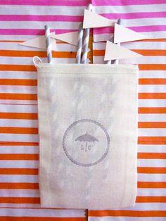 Stamped Muslin Bag