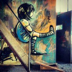 Beyond Banksy Project / Alice Pasquini - Rome, Italy. Thanks to Leo Terres.