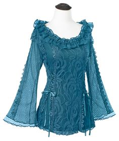 Greenwood Lace Top - great medieval style shirt but with a modern twist