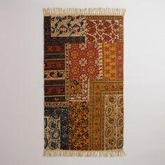 One of my favorite discoveries at WorldMarket.com: 3'x5' Kalamkari Patchwork Rug