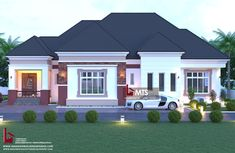 #Architecture #Nigerianbuildingdesigns #MastersTouchStudios #instagram #Homes #House #Nigeria #bungalow #beauty #fine #Design #Exterior #Modern #HouseDesign #HomeDecor #HouseStyles #HouseExterior #love #beautiful #nice 4 Bedroom Bungalow design Minimum size of land is 100ft by 60ft. Contact +2348032582385, +2348174058017 (Calls and Whatsapp) E mail: Masterstouchstudios1@gmail.com Modern Bungalow House Plans, Bungalow Designs, Classic House Exterior, African Design, Building Design, Bedroom, House Design, Mansions, House Styles