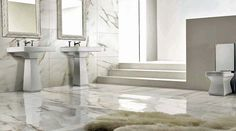 Porcel Thin large format ultra-thin porcelain tiles for bathrooms
