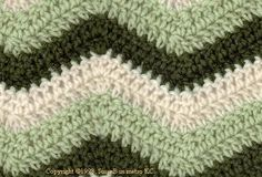 Crochet ripple afghans have a distinctive chevron crochet pattern throughout that makes them unique. To crochet the ripple stitch, work double crochet stitches and double crochet 3 together throughout your row - your pattern will tell you how! Crochet Afghans, Crochet Ripple Blanket, Afghan Crochet Patterns, Crochet Stitches, Baby Afghans, Afghan Blanket, Chevron Crochet Blanket Pattern, Chevron Baby Blankets, Chevron Patterns