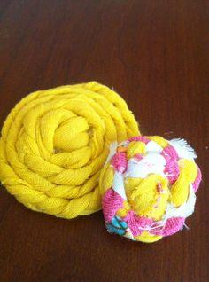 Braided Fabric Flowers