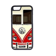 CellPowerCasesTM VW Minibus Red iPhone 6 (4.7) Protective V1 Black... ($13) ❤ liked on Polyvore featuring accessories, tech accessories and black