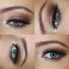 Brown Smokey Eye - what I may do for Kit Kats wedding!! And tums grad party!(: