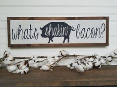 Bacon Sign Wood Sign Wooden Sign Farmhouse Style