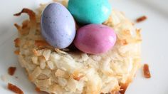 """Almond Macaroon Nests 