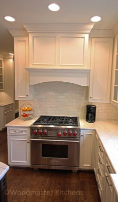 Custom Range Hood In White Kitchen  Mahshie Custom Homes  Cool Best Kitchen Vent Hood Decorating Inspiration