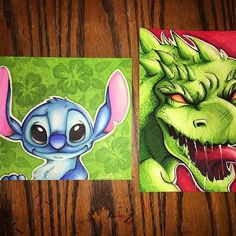 @spookie_taylor_art their amazing Stitch illustration from Lilo and Stitch. AND their awesome illustration of Godzilla.