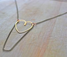 Heart Necklace Metalwork Jewelry Art by ElishaMarie on Etsy, $39.00