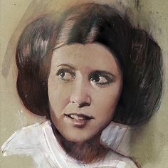 10+ Touching Tributes To Late Carrie Fisher By Artists Around The World.  Always in my heart,  Princess...