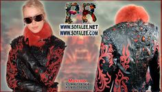 """№112 Goth leather jacket embroidered beads, crystals """"Batory"""" - Exclusive leather jackets&blazers. Women's clothes leather jackets from real python skin,genuine crocodile (alligator) hide skin, suit, coat, vest, dress of leather. Luxury Sheepakin. Mittens&Earmuffs fur red/silver fox, mink. Shop for jackets. Costumes for movie stars, concert, dance, show. Make to order luxury leather clothing."""