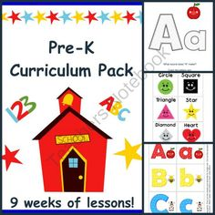 Pre-K Curriculum - 9 Weeks Of Lessons - 475 Pages! from Homegrown Love 101 on TeachersNotebook.com -  (475 pages)  - Pre-K Curriculum pack for ages 3-6