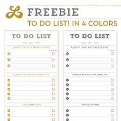 Pdf to do list template in 4 colors get them here lettersketch com