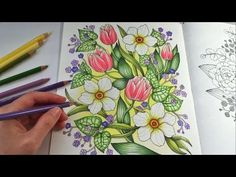 HOW I COLOR DAFFODIL | Blomstermandala Coloring Book | Coloring With Colored Pencils - YouTube