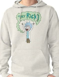 Tiny Rick, Rick And Morty Pullover Hoodie