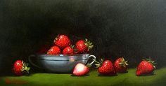 https://flic.kr/p/Gf8T9b | Strawberry feast by Vicki Sullivan#oilonbelgianlinen#stilllife#organicgarden#representationalpainting#Australianartist#portraitartistsaustralia#fruit#freshandnatural#slowfood#rosemarybrushes#rosemary&co#melbourneartist#mornigtonpeninsulaartist#commissiona