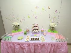 Pretty butterfly dessert table!  See more party ideas at CatchMyParty.com!