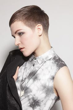 Beautiful Buzzcut Babe