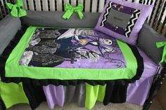 5pc nightmare before christmas lime baby bedding Free
