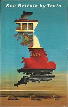 See Britain by train Imperial Airways Fly Through Europe 1935 vintage travel poster Affiches de voyage travel . Old Poster, Retro Poster, Poster Ads, Advertising Poster, Poster Prints, Train Posters, Railway Posters, Abram Games, Travel Ads