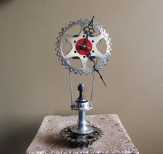 Clock made from bicycle gears