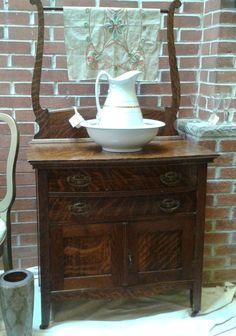 by mermaidwatch on Etsy Decor, Furniture, Wall Decor, Oak Furniture, Home Goods Decor, Tiger Oak, Annie Sloan Chalk Paint, Oak, Wash Stand