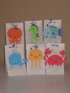Under the Sea Goody / Treat / Favor Bags  #underthesea  #thepapercubby  #undertheseaparty