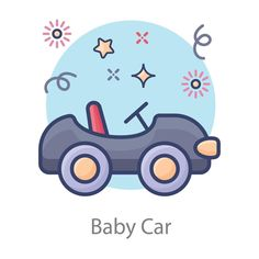 Free Coloring Pictures, Baby Car, Vector Art, Royalty, Clip Art, Toys, Projects, Royals, Activity Toys
