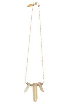 The Gypsy Moon Crystal Necklace in Gold Filled by Heather Gardner at CoutureCandy.com
