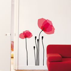 Wall Decals - Pink Poppy
