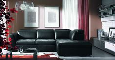 black leather furniture design