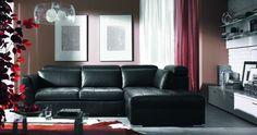 black leather furniture design