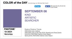 APPart – Mobile Art – Pantone Color of the Day – 'Veronica' – TheAppWhisperer