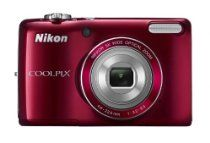 Nikon COOLPIX L26 Compact Digital Camera - Red (16.1MP, 5x Optical Zoom) 3 inch LCD