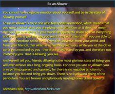 Be an Allower - Abraham Hicks