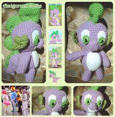 "Amigurumi ""Spike"" from tv's My Little Pony"