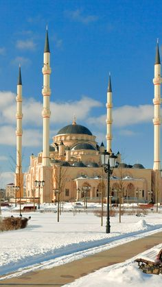 Akhmad Kadyrov Mosque in Grozny, Chechnya is the largest mosque in Russia