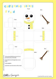 Blog Paper Toy christmas papertoys Samantha Eynon Snowman template preview Christmas papertoys de Samantha Eynon