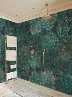 INTO THE BLUE - Wallpaper in the Shower??!! The Wet Collection by Wall & Deco is Made for Wet Environments! How Awesome is That?!!!!