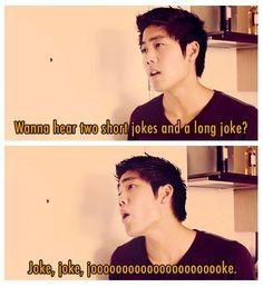 Two short jokes and a long joke --- trolololol I find this way to amusing...