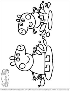 peppa pig coloring pages birthday balloon | Happy birthday coloring pages with balloons for kids ...