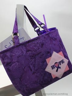 "Sew a bag to give ""hope,"" When a friend or family member is going through treatment for cancer, create a bag that will show your love and concern, a bag of hope."