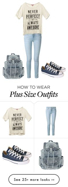 """""""Untitled #430"""" by pixiedust2001 on Polyvore featuring Frame Denim, Wet Seal and Converse"""